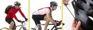 Man with Bicycle Helmet Mirror