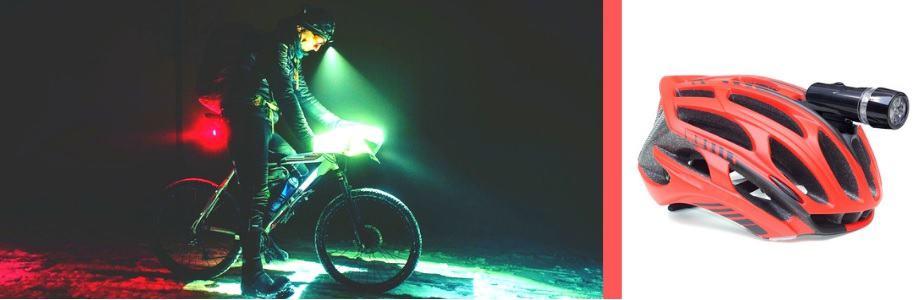 Bicycle Helmet Light, Red Helmet, Featured Image