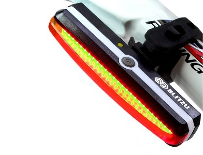 Ultra Bright 200 Lumen LED 3 Modes Bike Cycling Safety Flashlight with Auto On//Off IP65 Waterproof Fits for Any Road Bikes TLOG Smart Bike Tail Light USB Rechargeable Warning Bicycle Rear Light