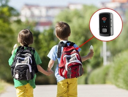Kids having a GPS Tracker in their bag