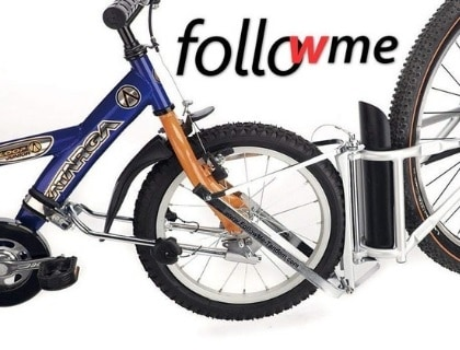 Bike tandem attachment, followme attachment, bicycle tandem