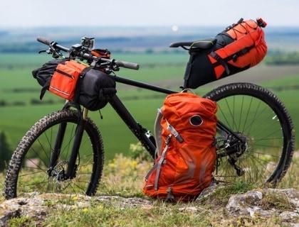 GREEN Stylish Vibrant Bicycle Saddle Bag
