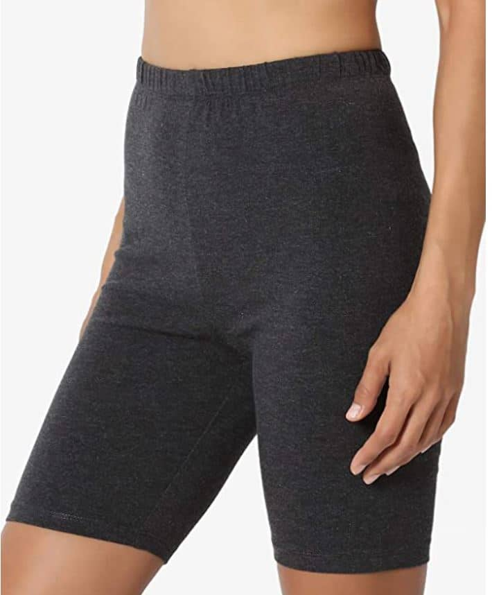 Mid-Thigh Cotton High Waist Active Short