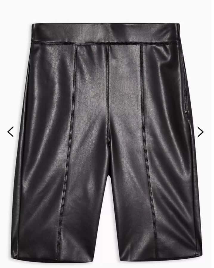 Topshop PU Bike Shorts